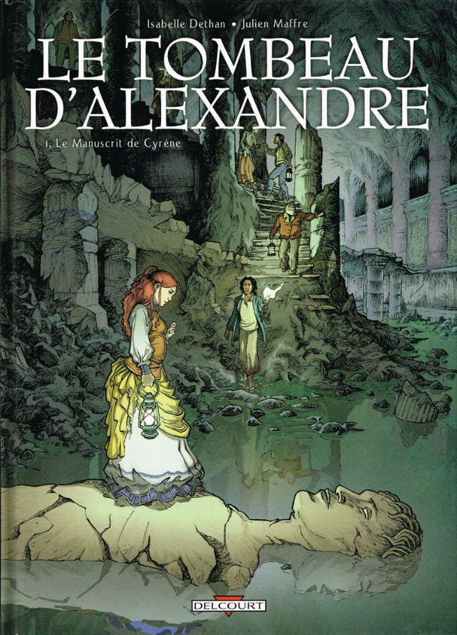 Couverture de Le tombeau d'Alexandre -1- Le Manuscrit de Cyrène