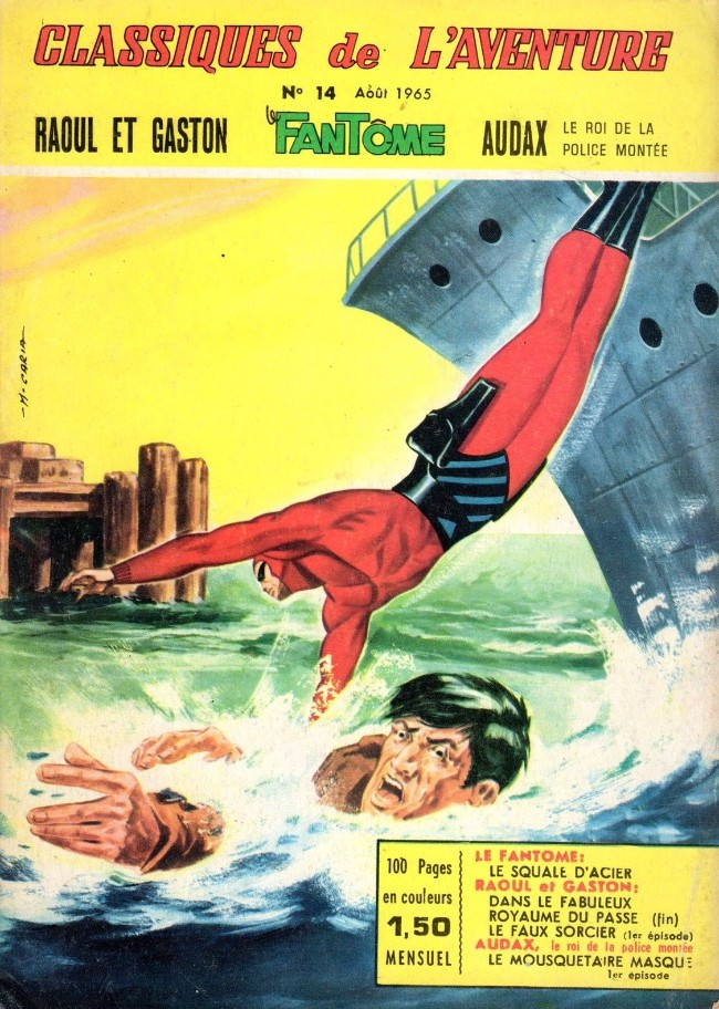 Couverture de Les héros de l'aventure (Classiques de l'aventure, Puis) -14- Le Fantôme : Le squale d'acier
