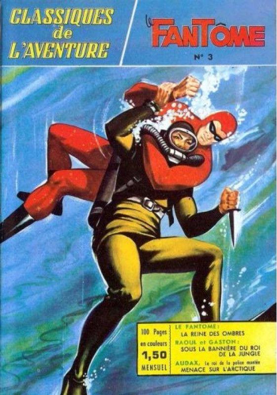 Couverture de Les héros de l'aventure (Classiques de l'aventure, Puis) -3- Le Fantôme : La reine des ombres