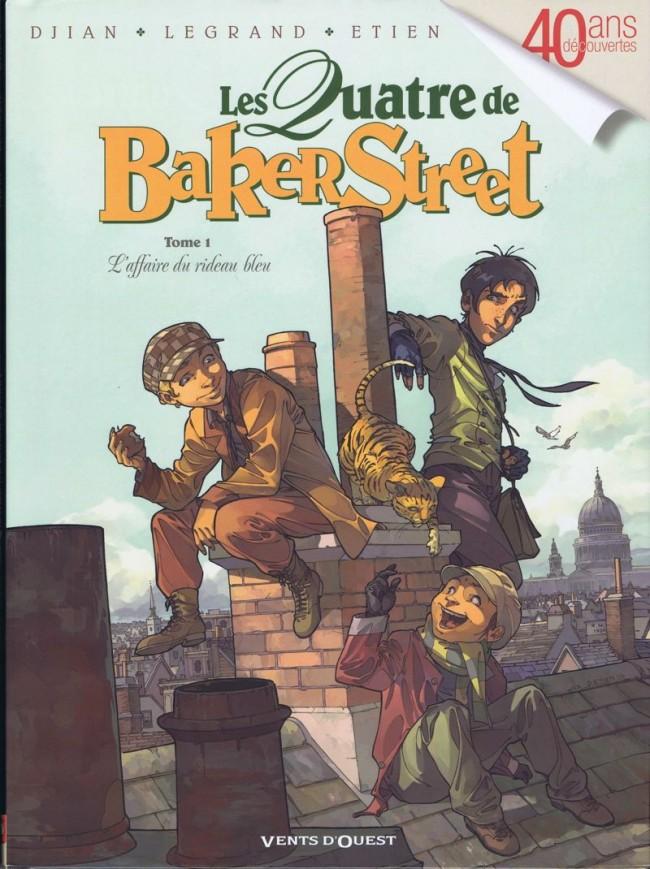 Couverture de Les quatre de Baker Street -1- L'Affaire du rideau bleu