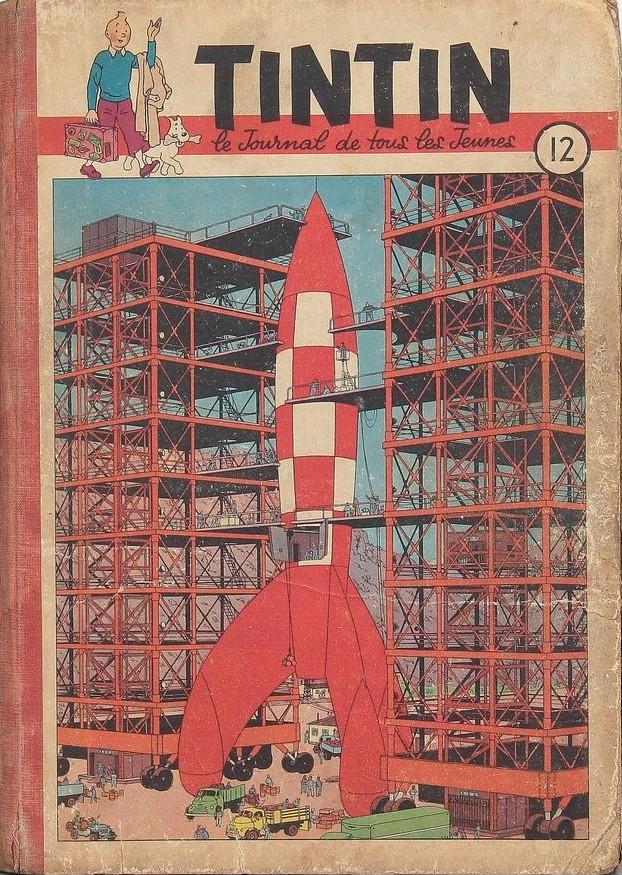 Couverture de (Recueil) Tintin (Album du journal - Édition française) -12- Tintin album du journal