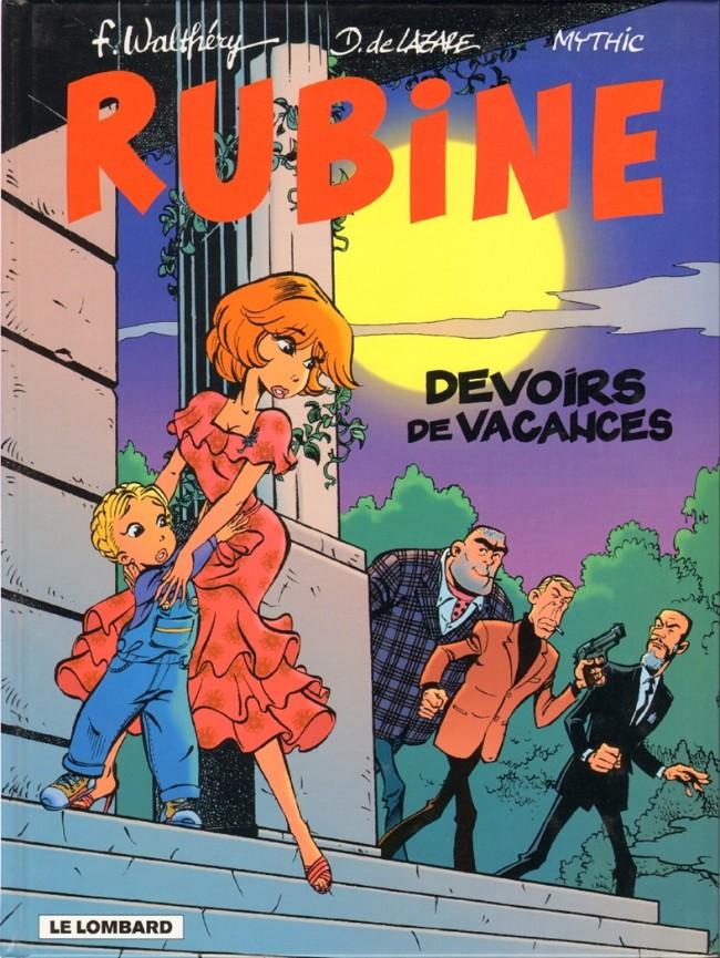 Couverture de Rubine -7- Devoirs de vacances