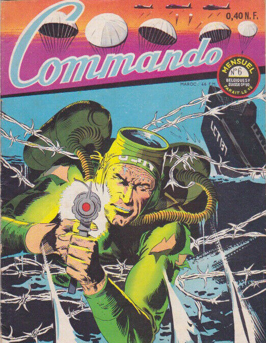 Couverture de Commando (1re série - Artima) -6-  Grenouille dans un filet