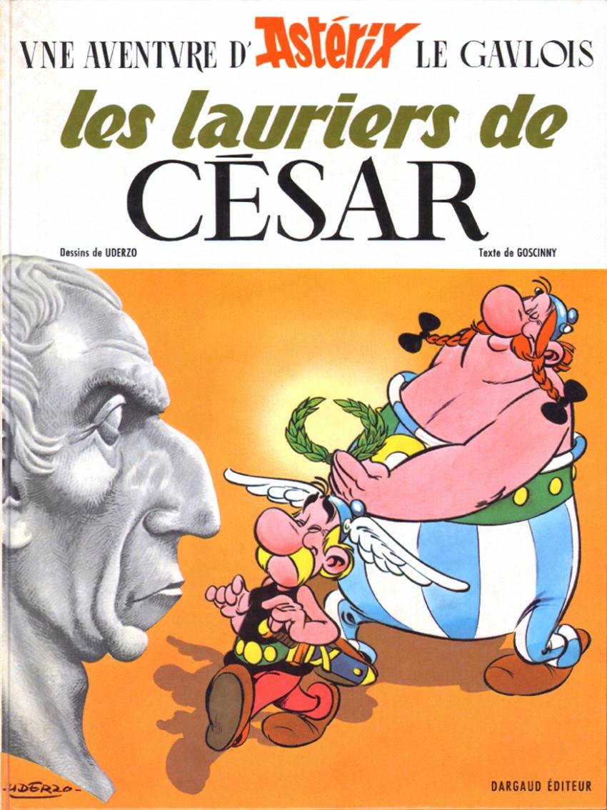 Couverture de Astérix -18- Les lauriers de César