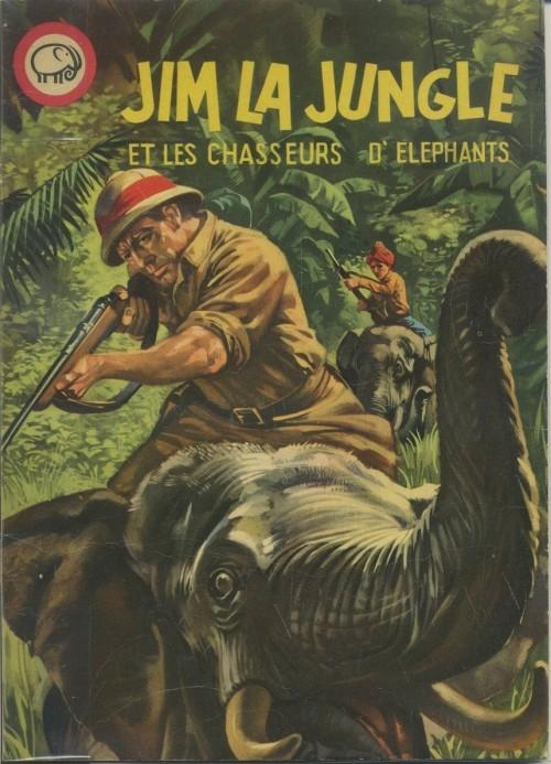 Couverture de Votre série Mickey (2e série) - Albums Filmés ODEJ -14- Jim la Jungle et les chasseurs d'éléphants