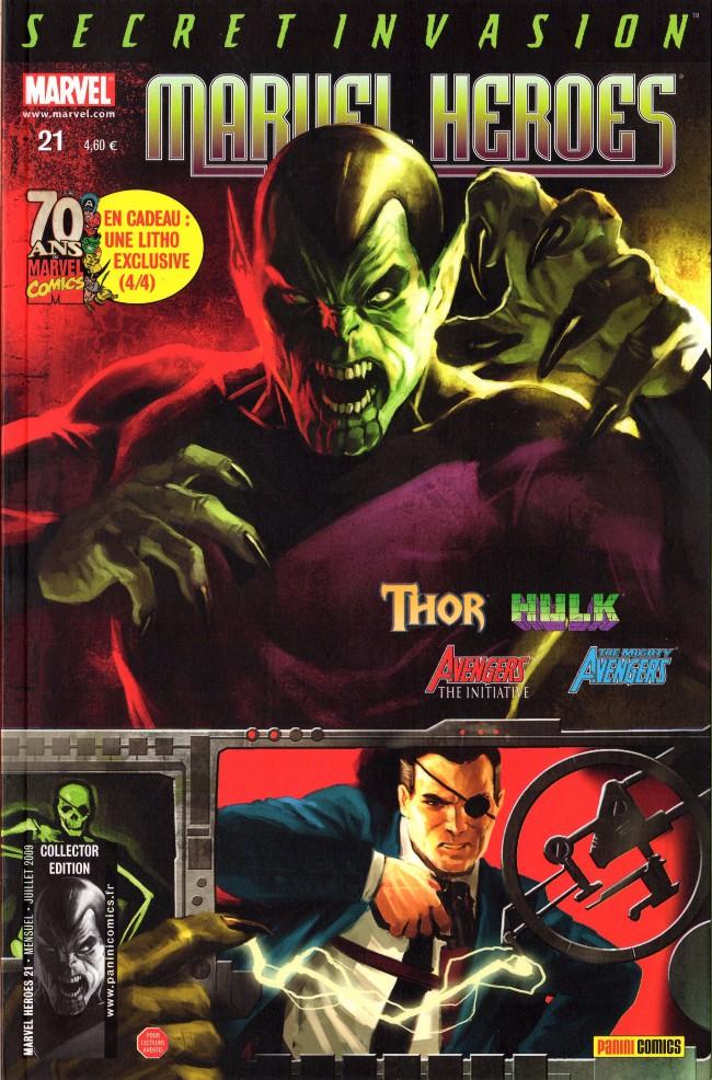 Couverture de Marvel Heroes (Marvel France - 2007) -21- Avantage à domicile