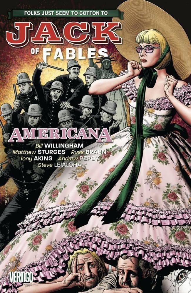 Couverture de Jack of Fables (2006) -INT04- Americana