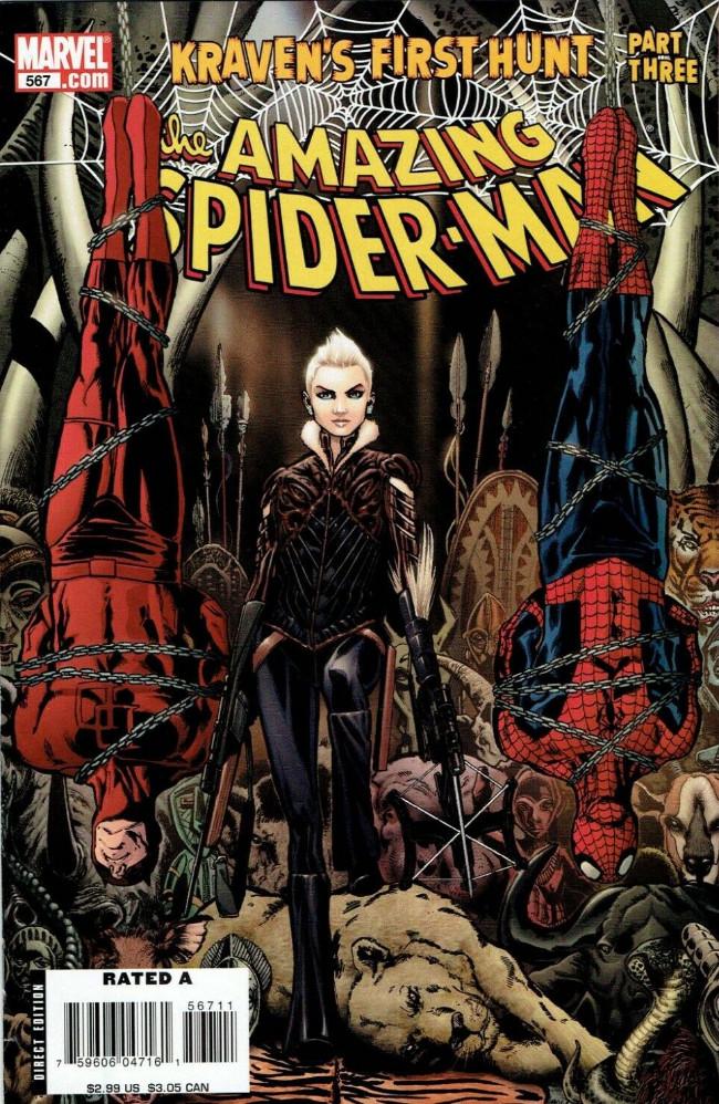 Couverture de Amazing Spider-Man (The) Vol.2 (Marvel comics - 1999) -567- Kraven's first hunt part 3 : legacy