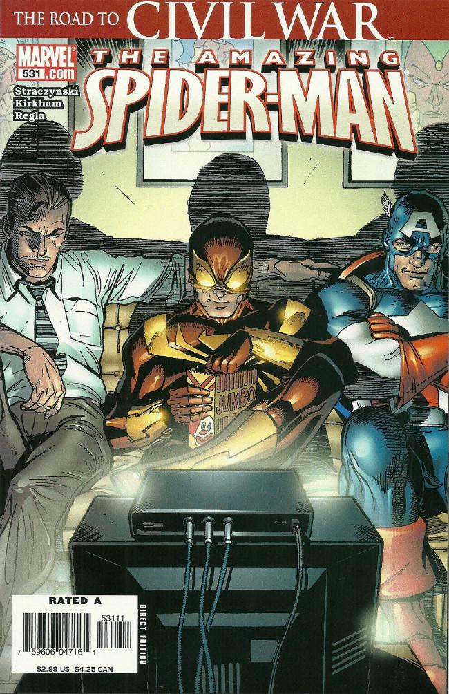 Couverture de Amazing Spider-Man (The) Vol.2 (Marvel comics - 1999) -531- Mr. Parker Goes to Washington Part Three