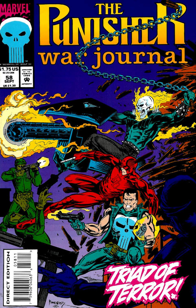Couverture de Punisher War Journal Vol.1 (Marvel comics - 1988) -58- Blood red moon