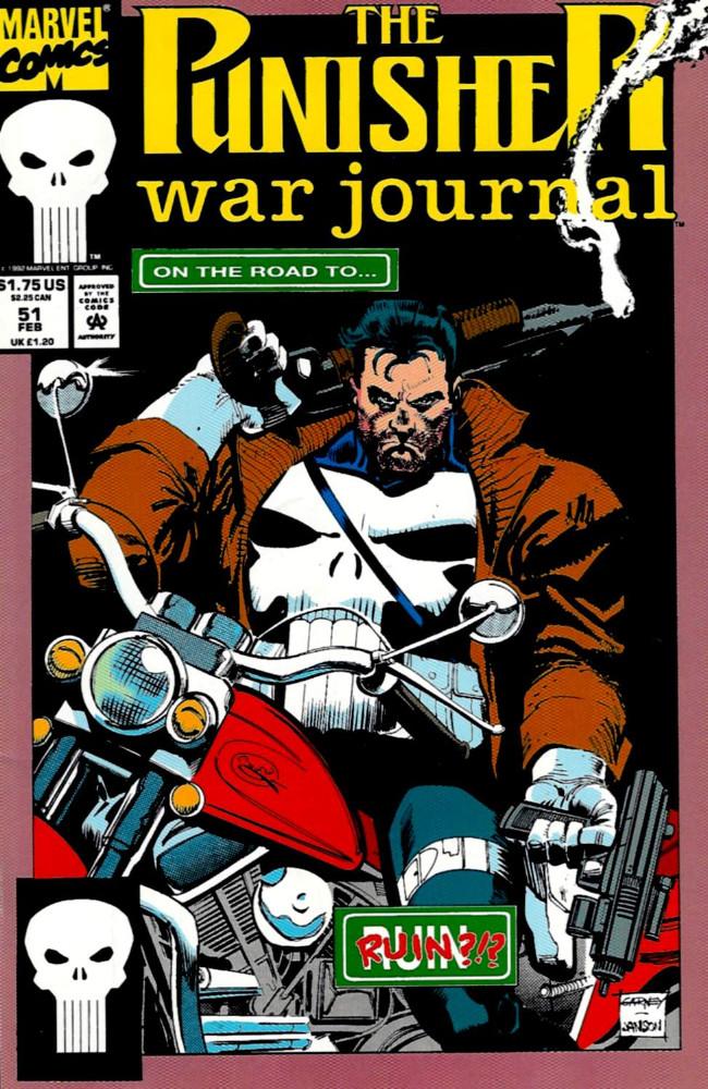 Couverture de Punisher War Journal Vol.1 (Marvel comics - 1988) -51- Walk through fire part 3 : sidewinder