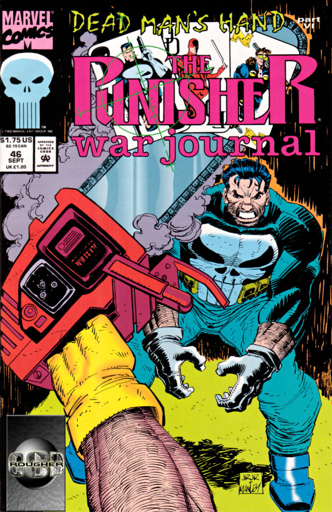 Couverture de Punisher War Journal Vol.1 (Marvel comics - 1988) -46- Dead man's hand part 6 : hot chrome and cold blood