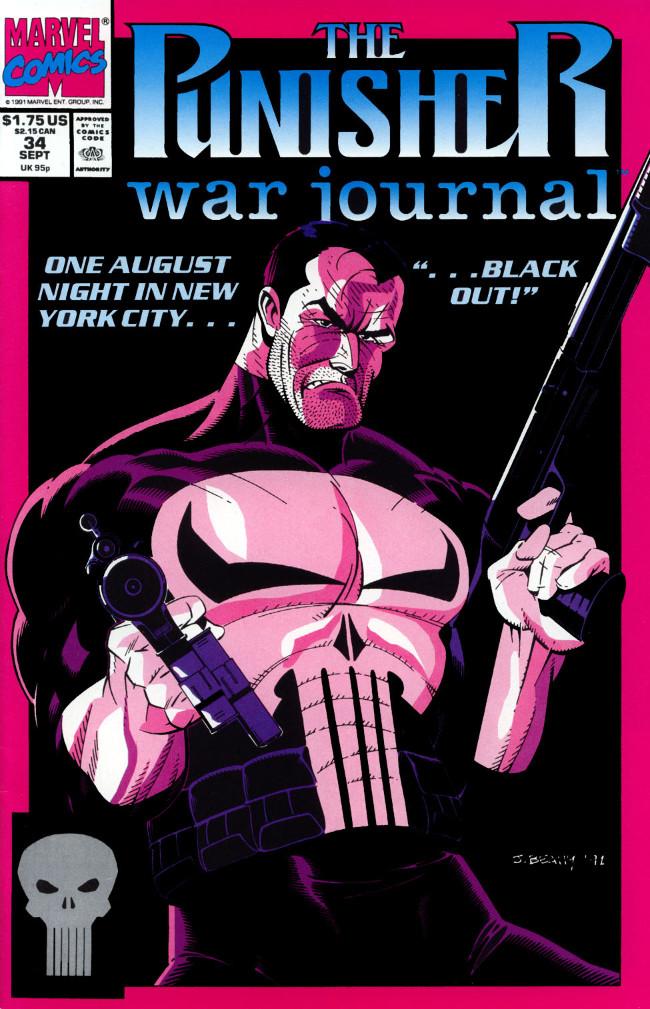 Couverture de Punisher War Journal Vol.1 (Marvel comics - 1988) -34- Blackout