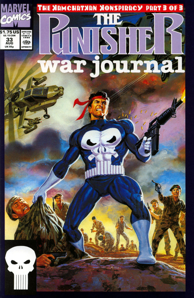 Couverture de Punisher War Journal Vol.1 (Marvel comics - 1988) -33- The kamchatkan conspiracy part 3 : fire in the hole