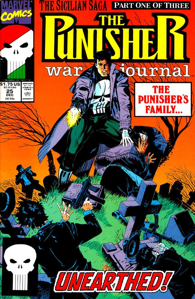 Couverture de Punisher War Journal Vol.1 (Marvel comics - 1988) -25- The sicilian saga part 1 : get out of town