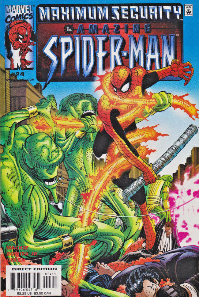 Couverture de Amazing Spider-Man (The) Vol.2 (Marvel comics - 1999) -24- Maximum Security
