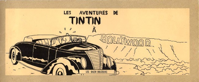 Couverture de Tintin - Pastiches, parodies & pirates -33- Les Aventures de Tintin à Hollywood