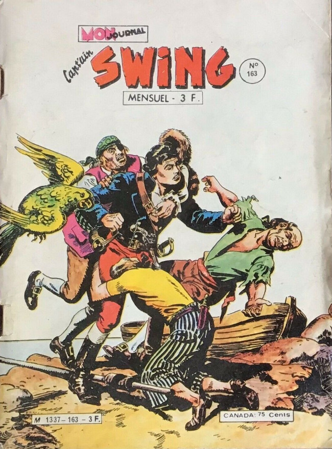 Couverture de Capt'ain Swing! (1re série) -163- Le diabolique perroquet