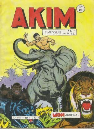 Couverture de Akim (1re série) -651- La charge des éléphants