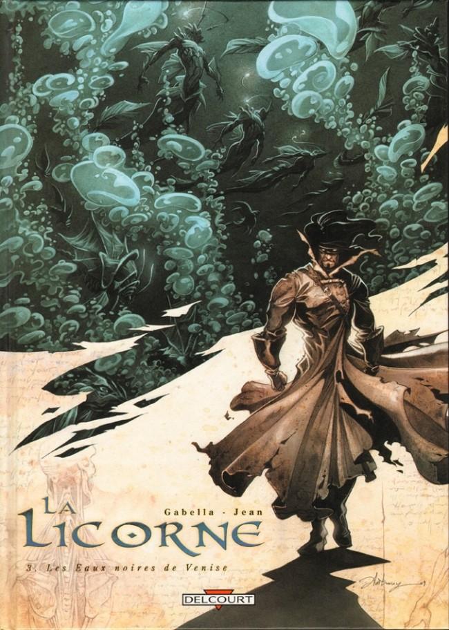 Couverture de La licorne -3- Les Eaux noires de Venise