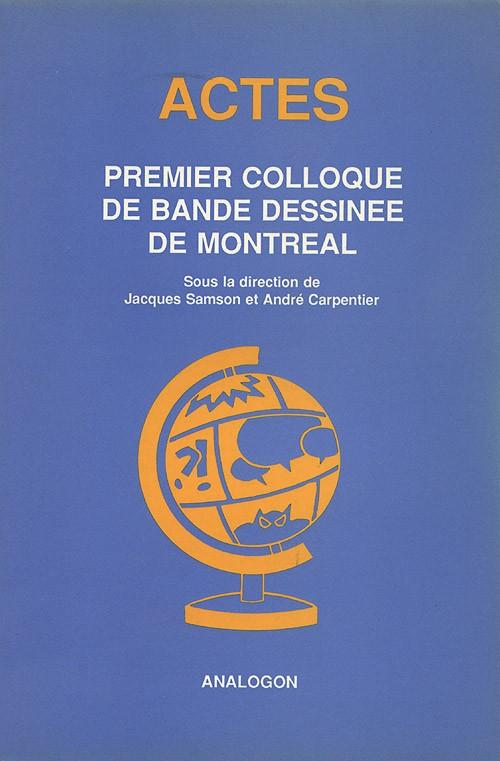 Couverture de (DOC) Études et essais divers - Premier colloque de bande dessinée de Montréal