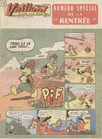 Couverture de Vaillant (le journal le plus captivant) -645- Vaillant