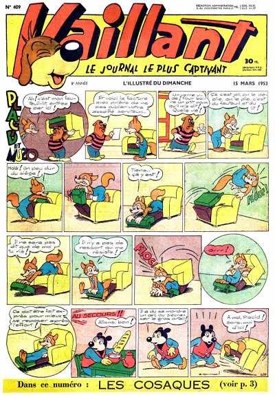 Couverture de Vaillant (le journal le plus captivant) -409- Vaillant