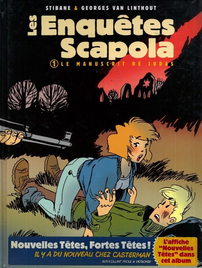 Couverture de Les enquêtes Scapola -1- Le manuscrit de Judas