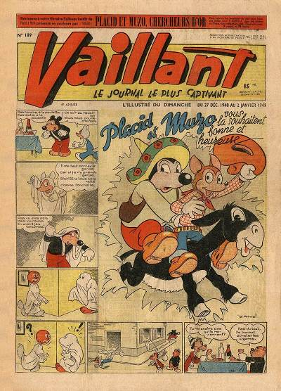 Couverture de Vaillant (le journal le plus captivant) -189- Vaillant