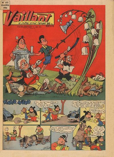 Couverture de Vaillant (le journal le plus captivant) -572- Vaillant