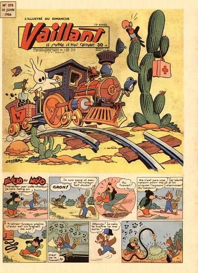 Couverture de Vaillant (le journal le plus captivant) -578- Vaillant