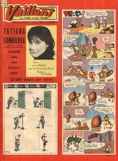 Couverture de Vaillant (le journal le plus captivant) -819- Vaillant