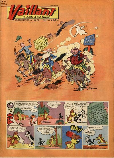 Couverture de Vaillant (le journal le plus captivant) -740- Vaillant
