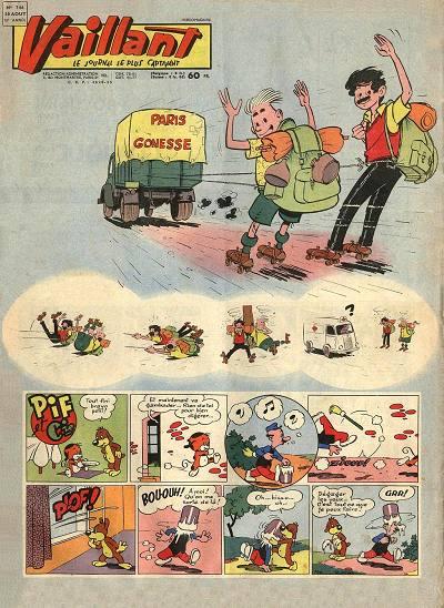 Couverture de Vaillant (le journal le plus captivant) -746- Vaillant