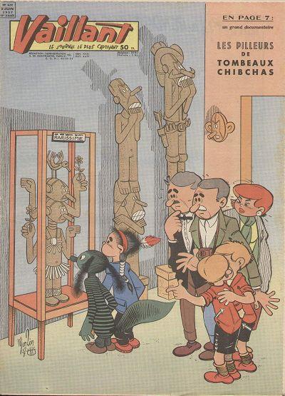 Couverture de Vaillant (le journal le plus captivant) -629- Vaillant