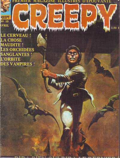 Couverture de Creepy (Publicness) -10- Le Cerveau ! - La Chose maudite ! - Les Orchidées sanglantes ! - L'Orbite des vampires !