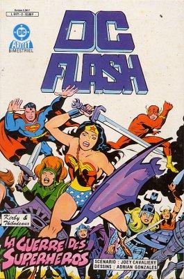 Couverture de DC Flash -2- La guerre des superhéros