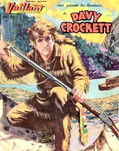 Couverture de Davy Crockett (Vaillant) -1- Les aventures de Davy Crockett
