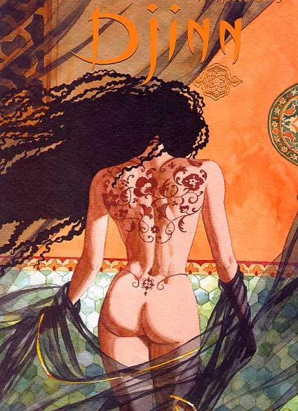 Couverture de Djinn -TT03- Le tatouage - Le trésor