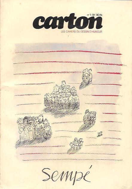 Couverture de (DOC) Carton - Les cahiers du dessin d'humour -1- Sempé