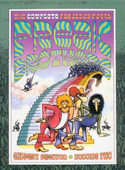 Couverture de Freak Brothers (The Fabulous Furry) - Integrale -V2- The complete fabulous furry Freak Brothers, volume two
