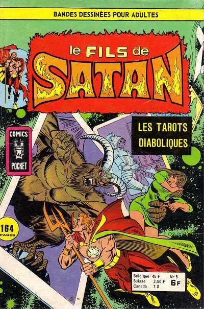 Couverture de Le fils de Satan -5- Les tarots diaboliques