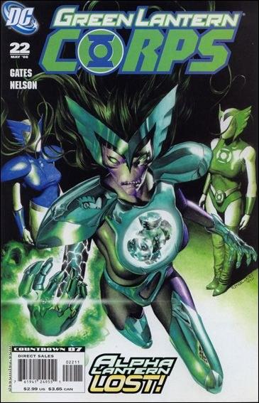 Couverture de Green Lantern Corps (2006) -22- The Curse of the Alpha-Lantern, part two