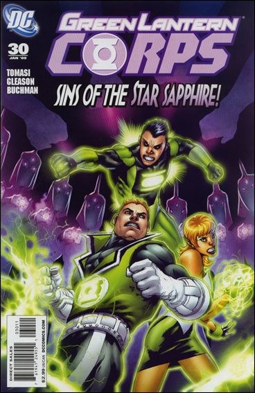 Couverture de Green Lantern Corps (2006) -30- Sins of the Star Sapphire, part two: Empty Handed Heart