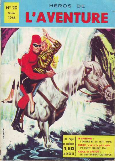 Couverture de Les héros de l'aventure (Classiques de l'aventure, Puis) -20- Le Fantôme : L'Ombre et le petit Mike
