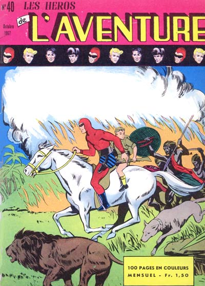 Couverture de Les héros de l'aventure (Classiques de l'aventure, Puis) -40- Le Fantôme : Les démons des forêts profondes