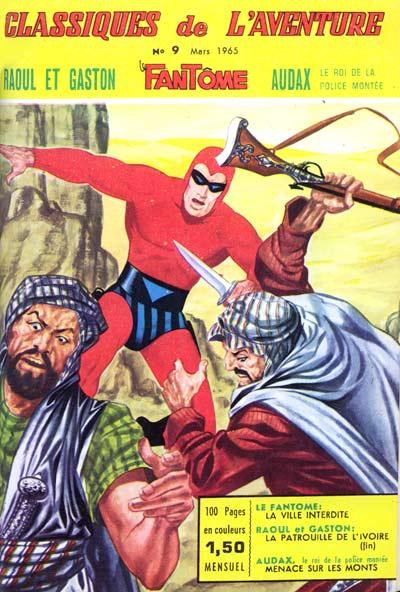 Couverture de Les héros de l'aventure (Classiques de l'aventure, Puis) -9- Le Fantôme : La ville interdite