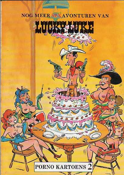 Couverture de Lucky Luke (parodie en néerlandais) -Ned- Nog meer sex avonturen van Lucky Luke