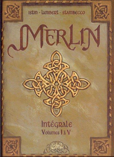 Couverture de Merlin (Istin/Lambert) -INT1- Intégrale Tomes 1 à 5
