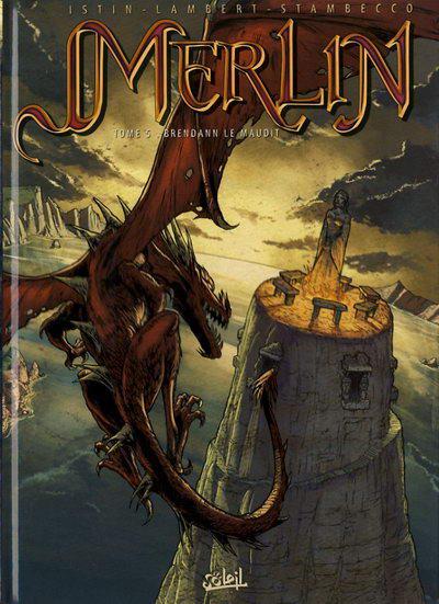 Couverture de Merlin (Istin/Lambert) -5- Brendann le maudit